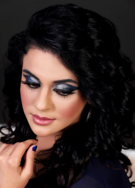 This look was created for the stunning Sara Khan
