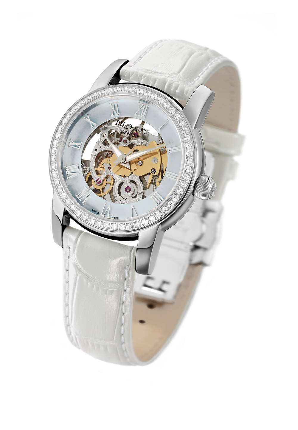 Pilo & Co Tempo Ladies Automatic Skeleton Swiss Watch 2