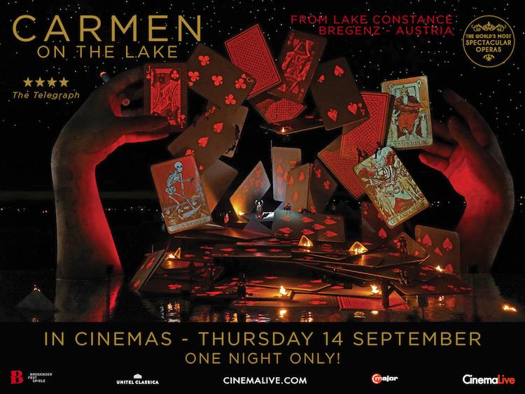 Carmen On The Lake - George Bizet's Opera from Bregenz, Austria to be screening across 300 Cinemas on Thursday 14th September