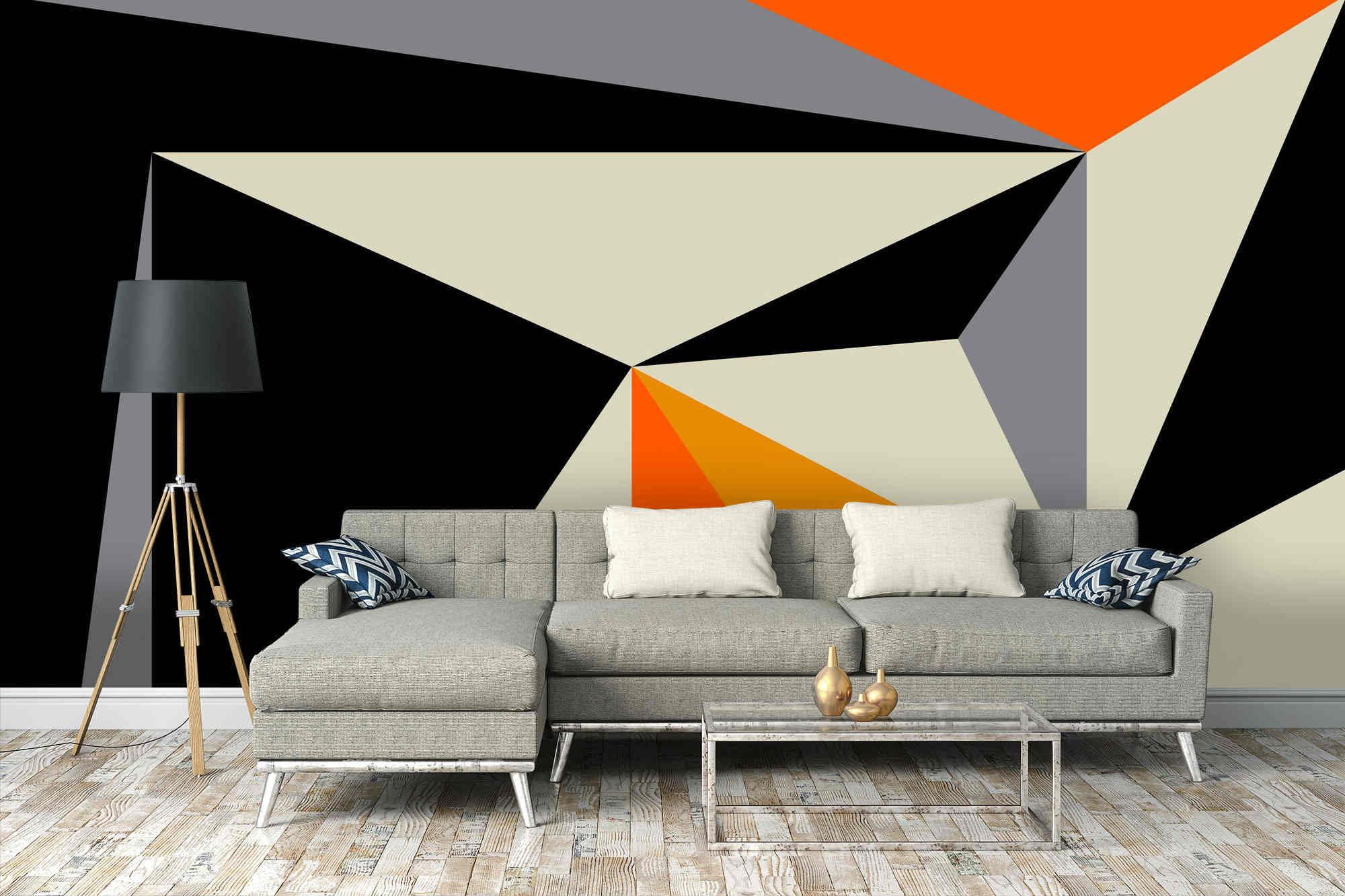 Infuse your interiors with the latest trend | Geometric wallpaper 1