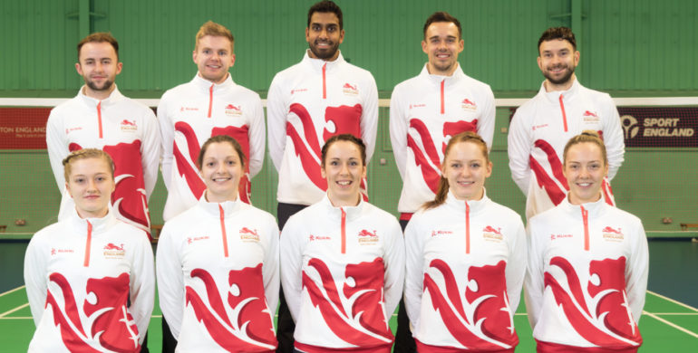 Team England Badminton Players