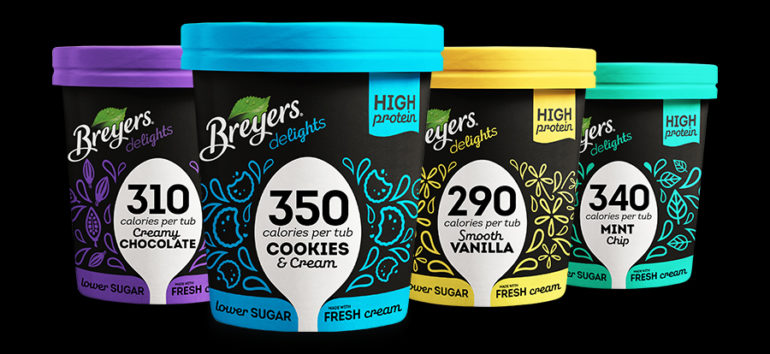 Breyers Delights Lower Calorie, High Protein Ice Cream