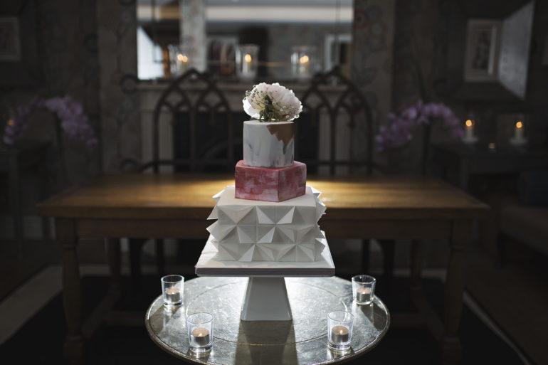 Geomertic wedding cake
