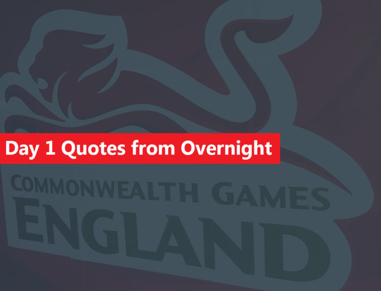 Team England Day 1 Quotes