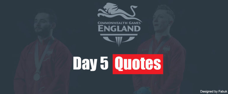 Team England Day 5 Quotes