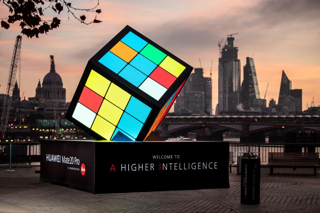 Ai powered rubik's cube on london