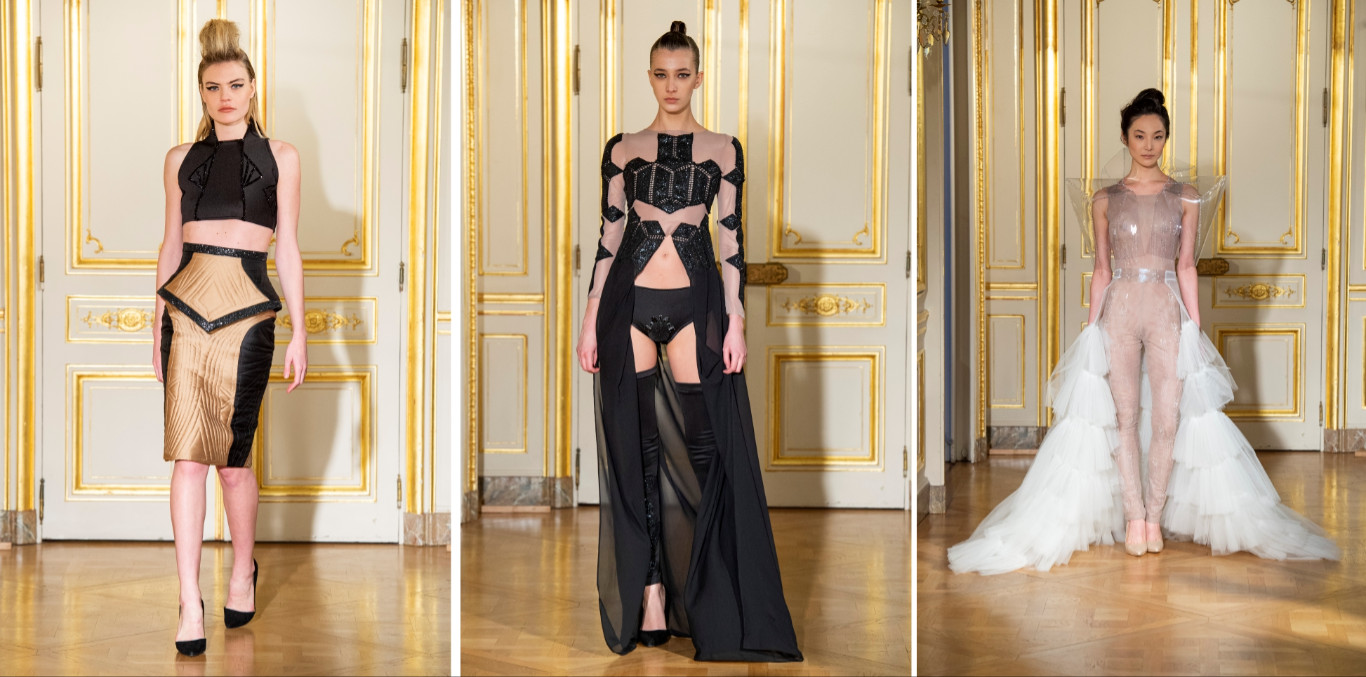 Adeline ziliox ss19 during paris haute couture fashion week