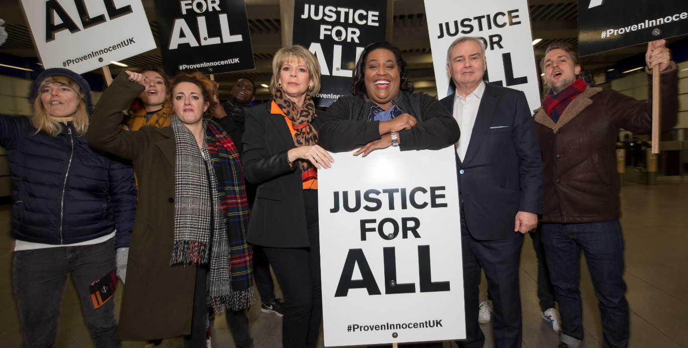 Eamonn holmes, ruth langsford and alison hammond celebrate the launch of proven innocent