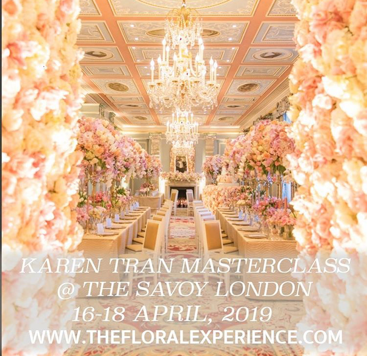 Karen tran floral masterclass at london