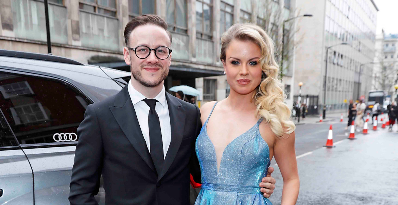 Kevin clifton & joanne clifton arrive in an audi at the olivier awards 2019 at the royal albert hall, london, sunday 7 april 2019 (2)
