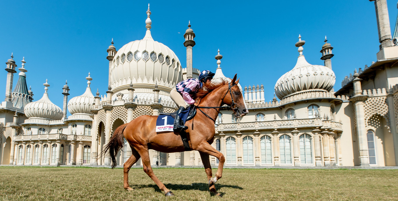 Lucie moore on sire de grugy at the royal pavilion