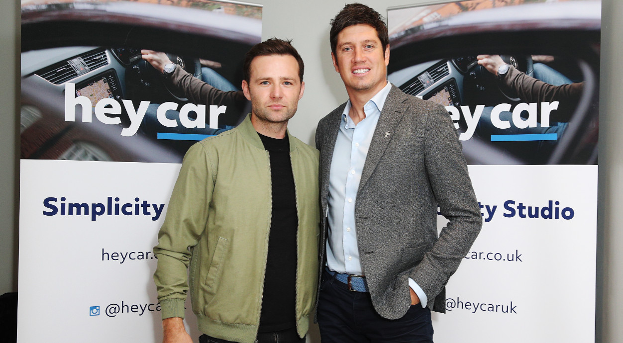 Harry judd & vernon kay at heycar simplicity studio