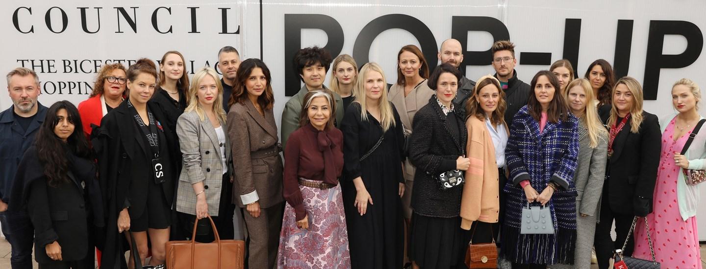 British fashion council designer pop up