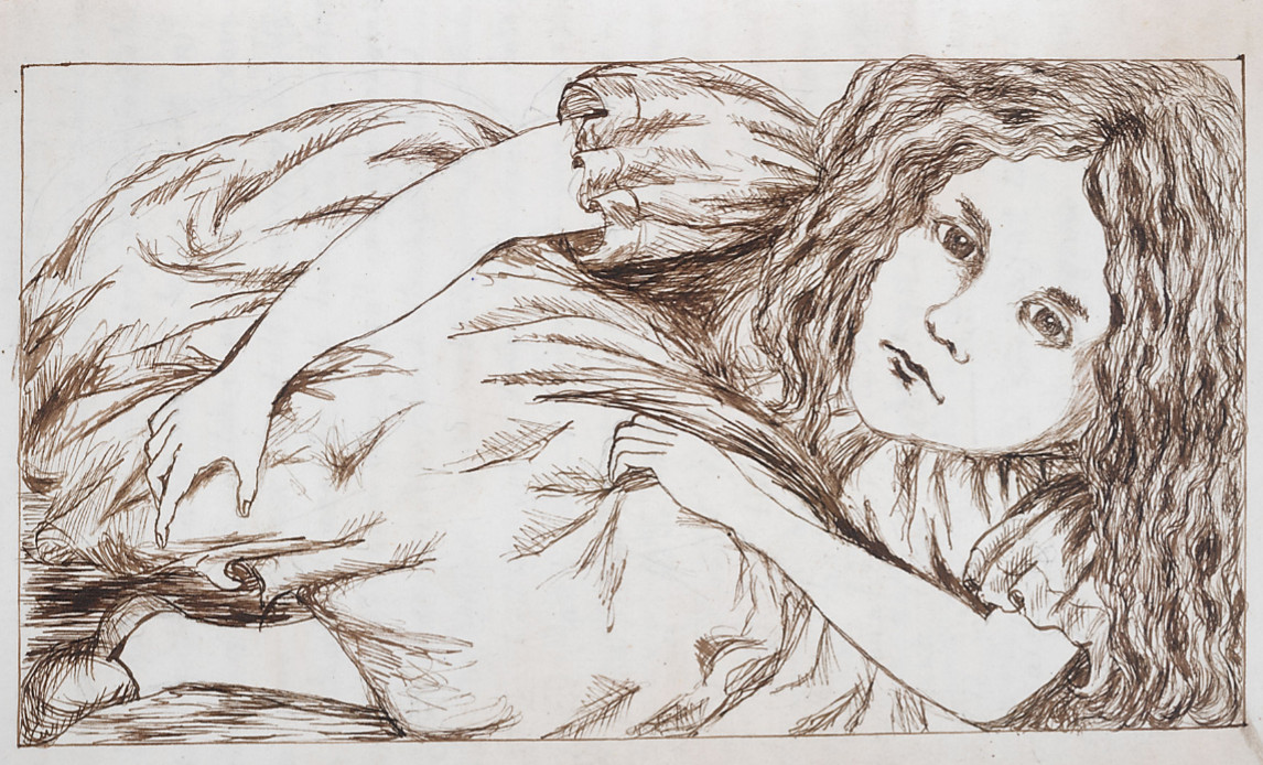 Illustration for the original manuscript version of lewis carroll's alice's adventures under ground ©british library