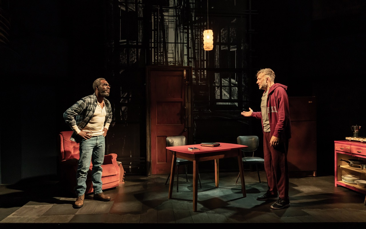 Gary beadle and jasper britton in sunset limited. photo marc brenner