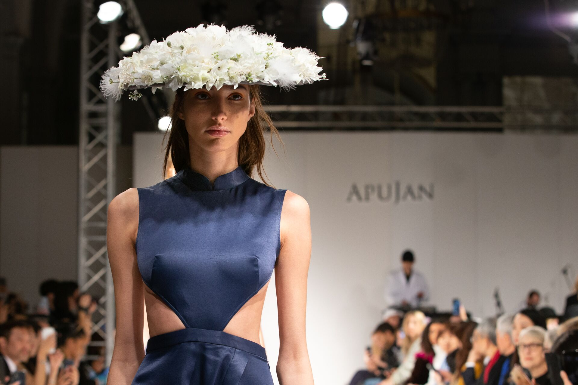 Apujan aw20 show during london fashion week
