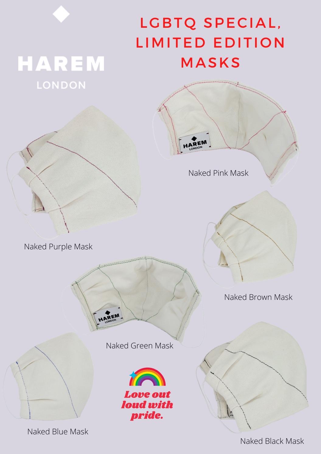 Lgbtq+ pride masks