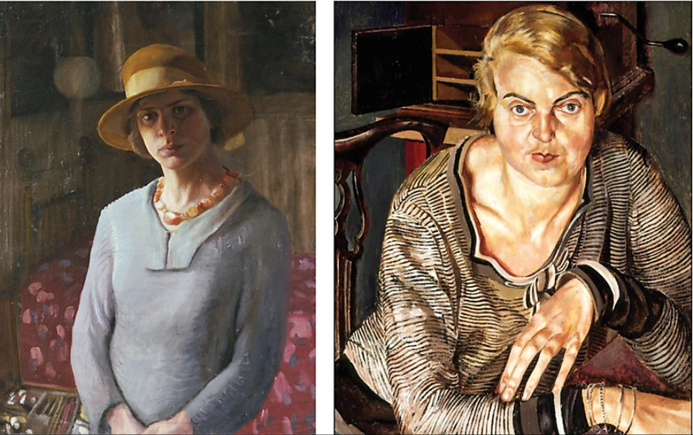 Hilda carline, self portrait, 1923, © estate of hilda carline stanley spencer & patricia preece, 1933, oil on canvas, © estate of stanley spencer