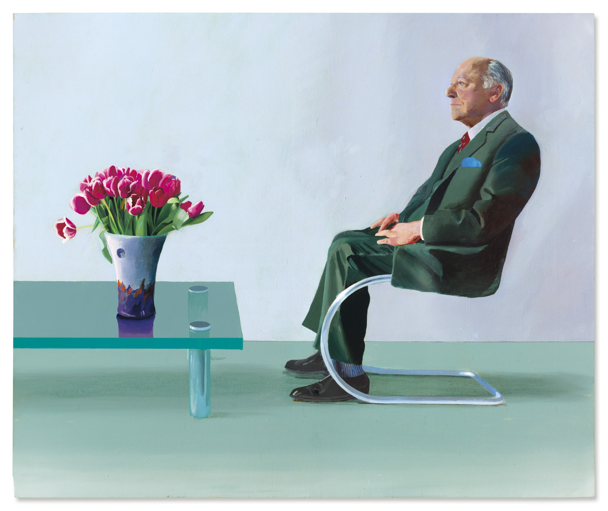 David hockney's portrait of sir david webster to be offered in the post war