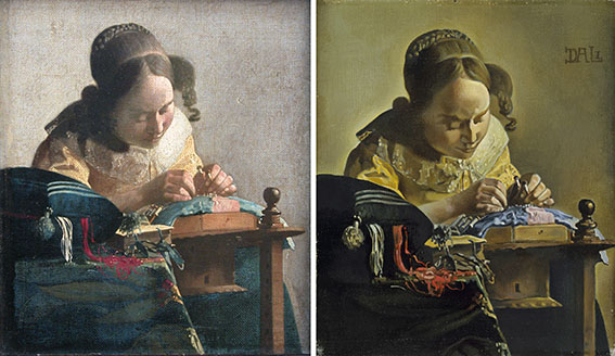 The lacemaker, by johannes vermeer