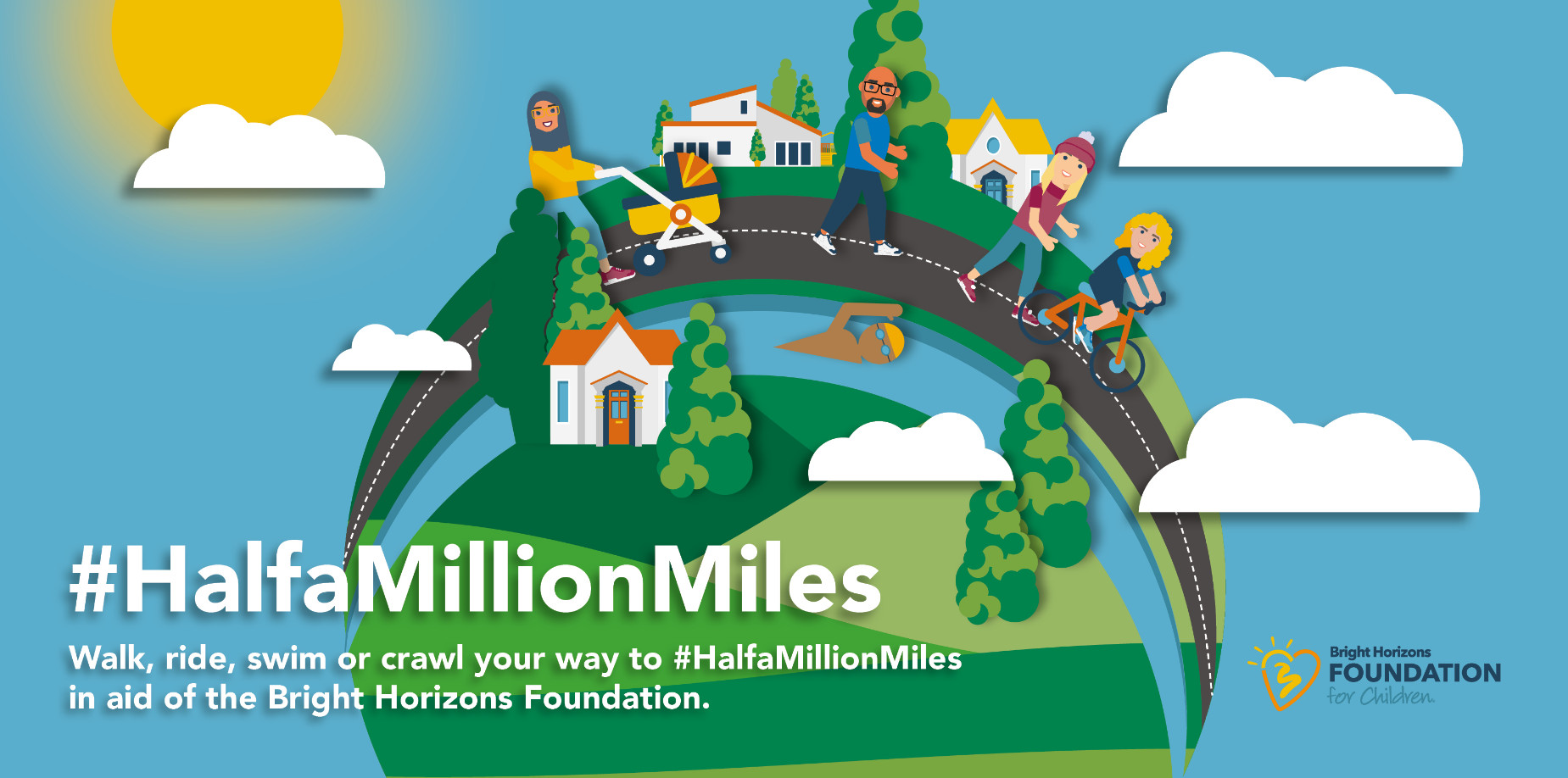 Half a million miles the target for bright horizons this april