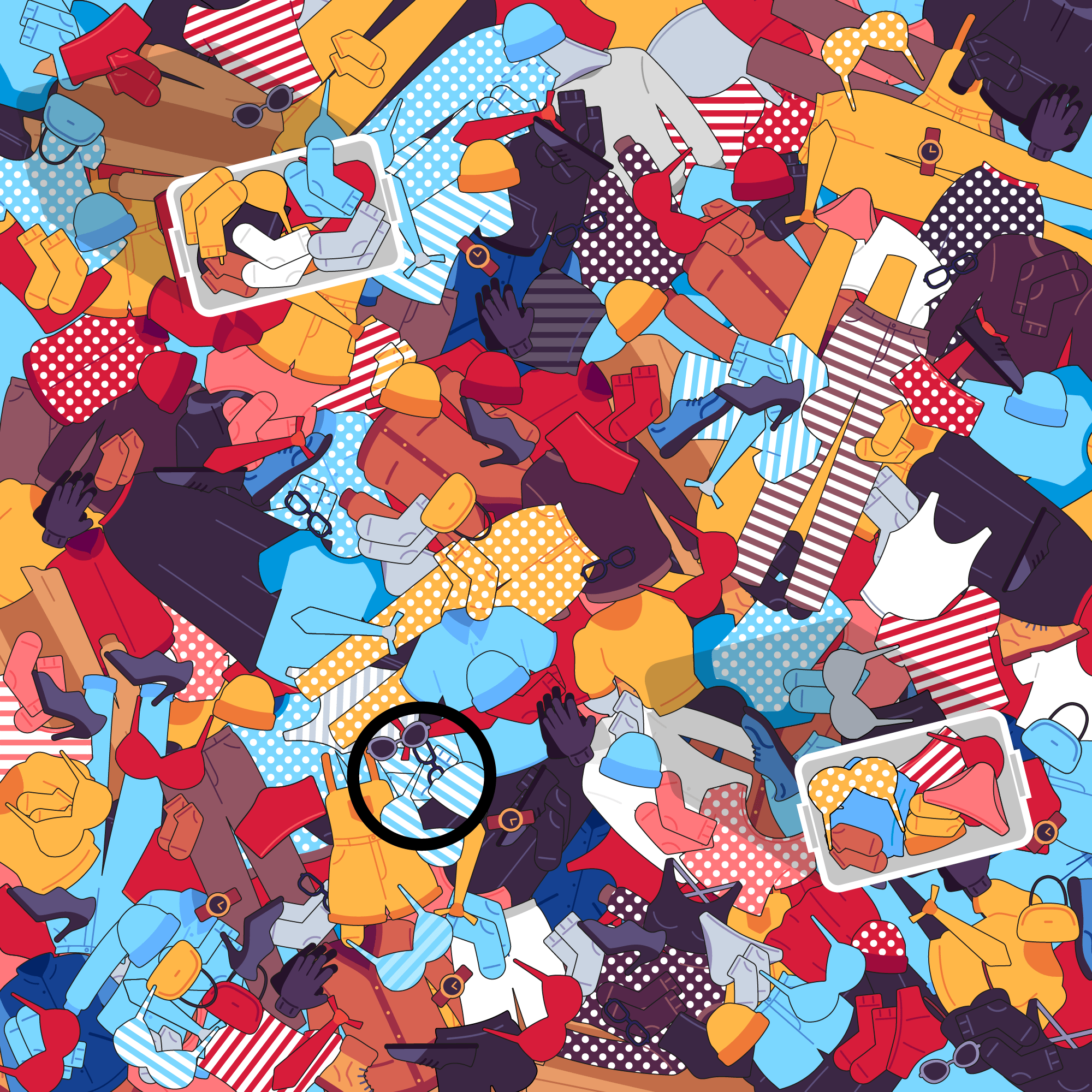 Can you find the odd sock in under 35 seconds