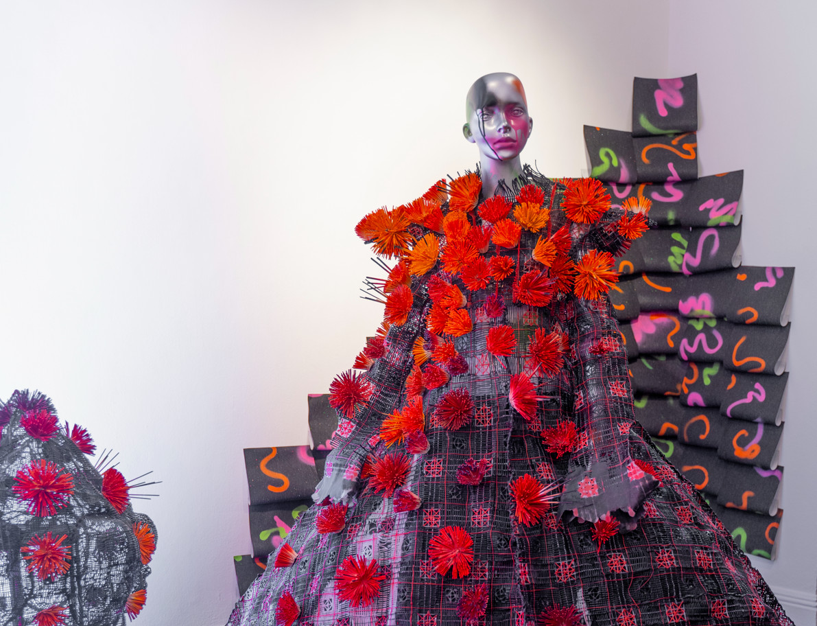 Karina bondareva springsummer 2021 during london fashion week (9)