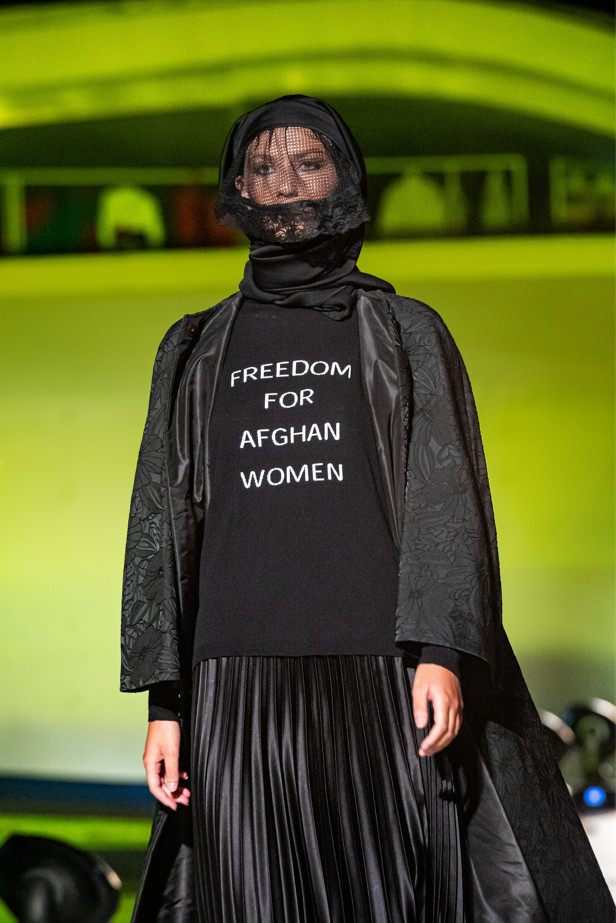 Michele miglionico a pullover poster in support of afghan women